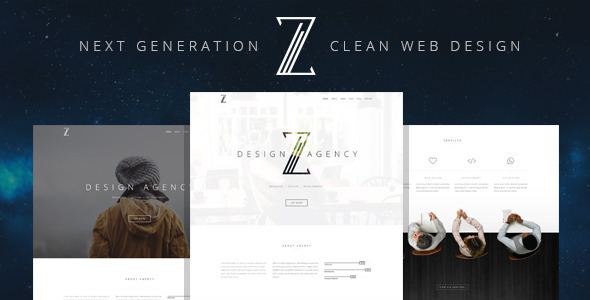 Wordpress Corporate Template Zuut - Clean Agency WordPress Theme