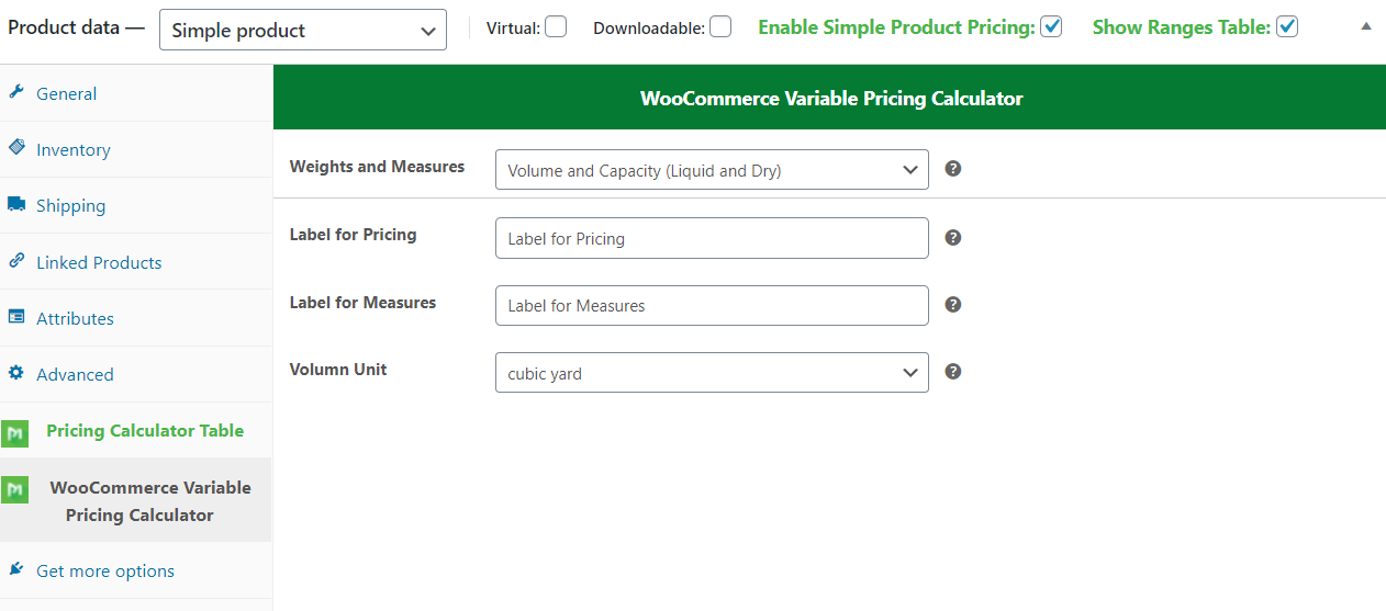 WooCommerce Variable Pricing Calculator (Addons einfaches Produkt) - 2