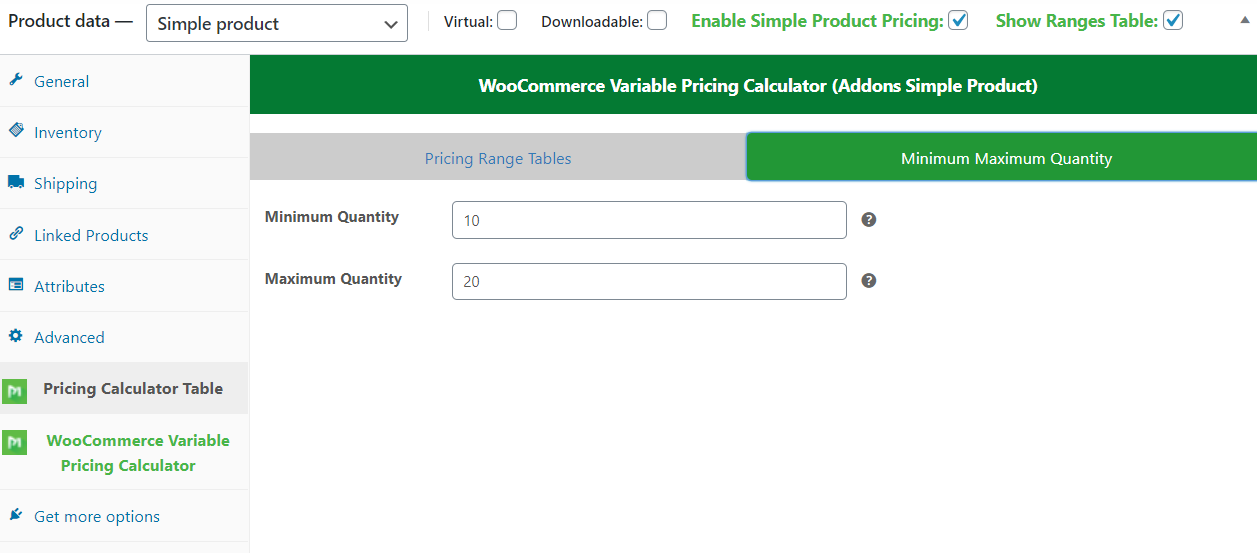 WooCommerce-Preisrechner (Addons Simple Product) - 4