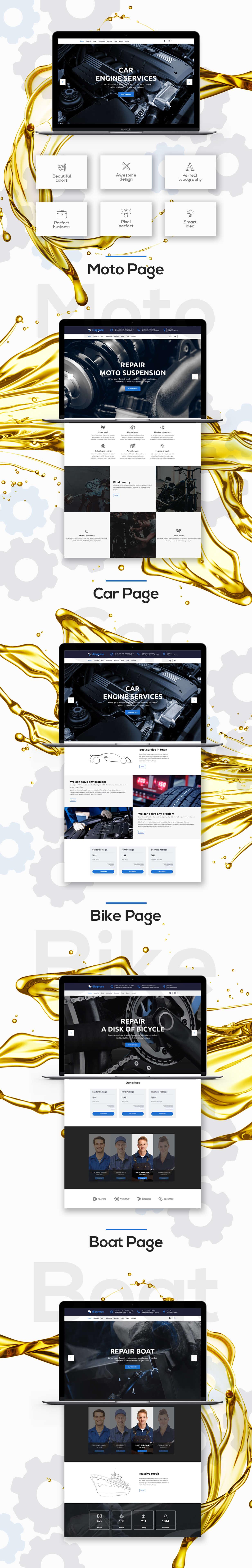 Diagnose - Autowerkstatt |  Mechaniker |  Workshop WordPress Theme - 1