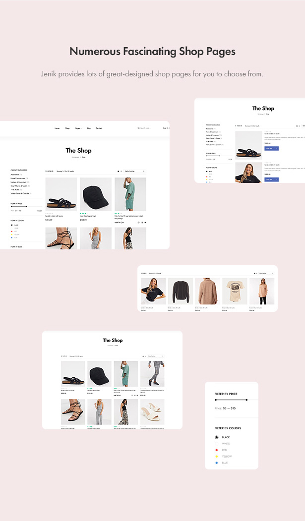 Jenik Gutenberg Fashion WooCommerce Theme - Shopping Pages