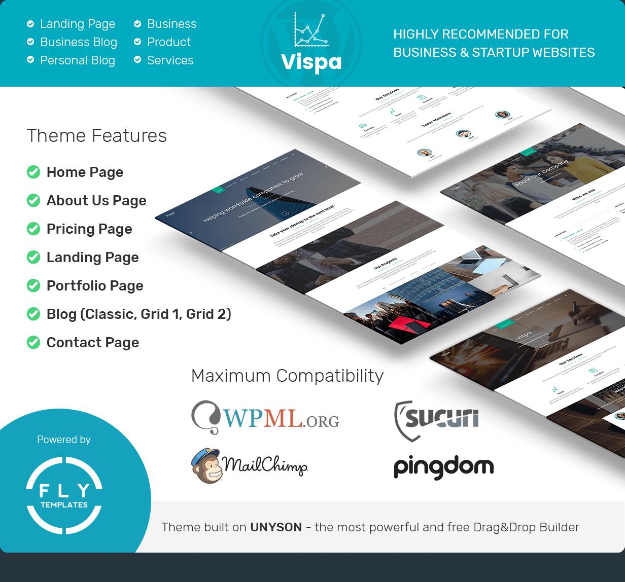Vispa für Startups - Responsive Business WordPress Theme - 1