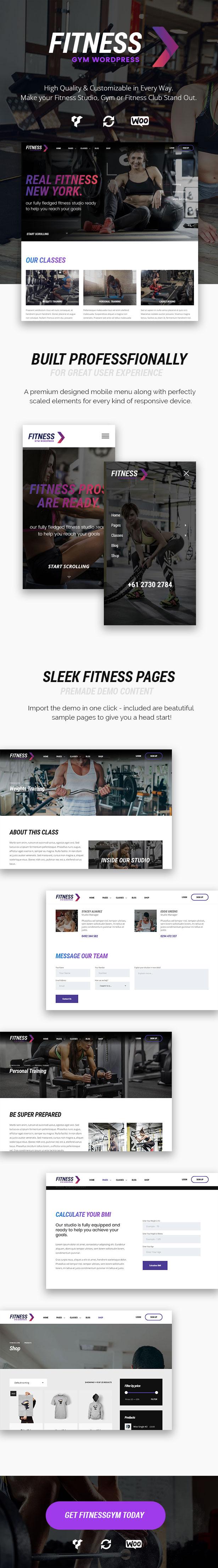 Fitness Gym - Personal Trainer & Gym WordPress Theme - 1