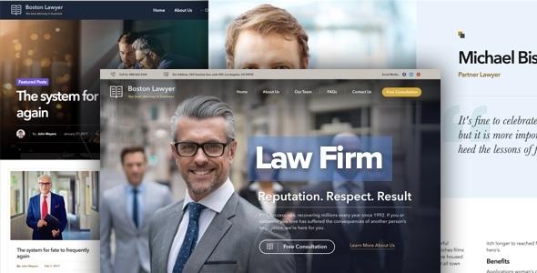 Anwalt - Anwaltskanzlei und Rechtsanwalt WordPress Vorlage