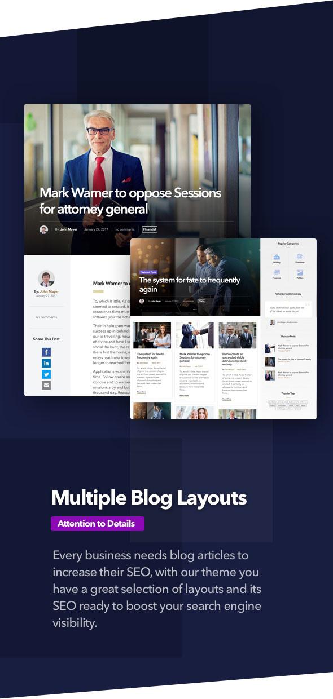 Anwalt - Anwaltskanzlei und Rechtsanwalt WordPress Theme - 5