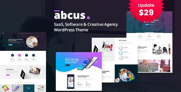 Wordpress Kreativ Template Abcus - App & SaaS Startup WordPress Theme