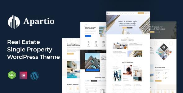 Wordpress Immobilien Template Apartio - Single Property WordPress Theme