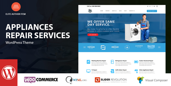 Wordpress Immobilien Template Appliance - Domestic Devices Repair Services