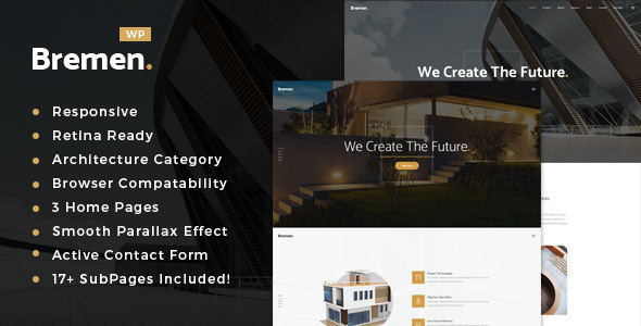 Wordpress Immobilien Template Bremen - Architecture & Interior Design WordPress Theme
