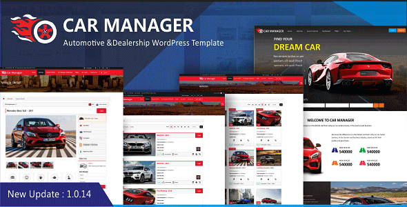Wordpress Immobilien Template Car Manager - Car Dealership Business WordPress Theme