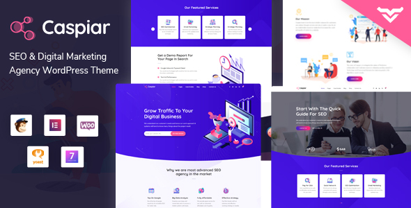 Wordpress Corporate Template Caspiar | Digital Marketing & Agency WordPress Theme