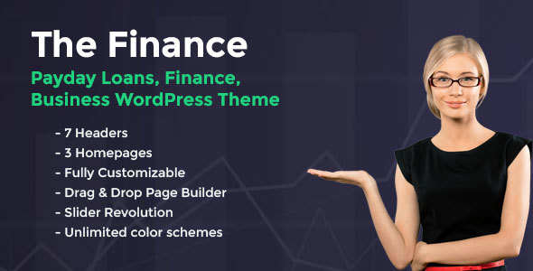 Wordpress Immobilien Template The Finance - Payday Loans WordPress Theme