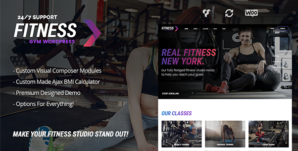 Wordpress Immobilien Template FitnessGym – Personal Trainer & Health WordPress Theme