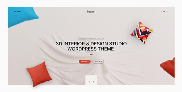 Wordpress Corporate Template Interni - 3D Interior & Design Studio WordPress Theme