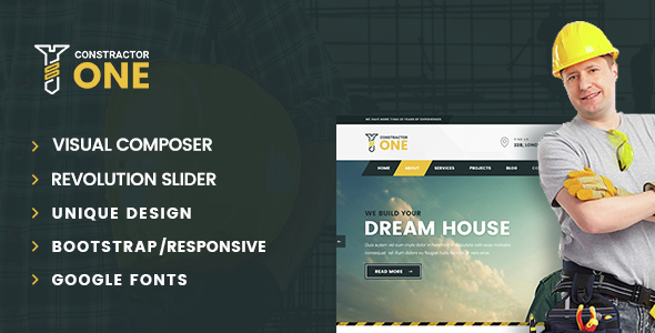 Wordpress Corporate Template Construction - Constructor