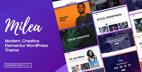 Wordpress Corporate Template Milea - Flexible Creative WordPress Theme
