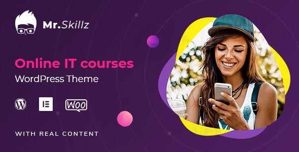 Wordpress BILDUNG Template MrSkillz - IT Online Courses WordPress theme