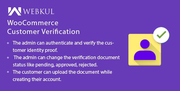 Wordpress E-Commerce Plugin WooCommerce Customer Verification