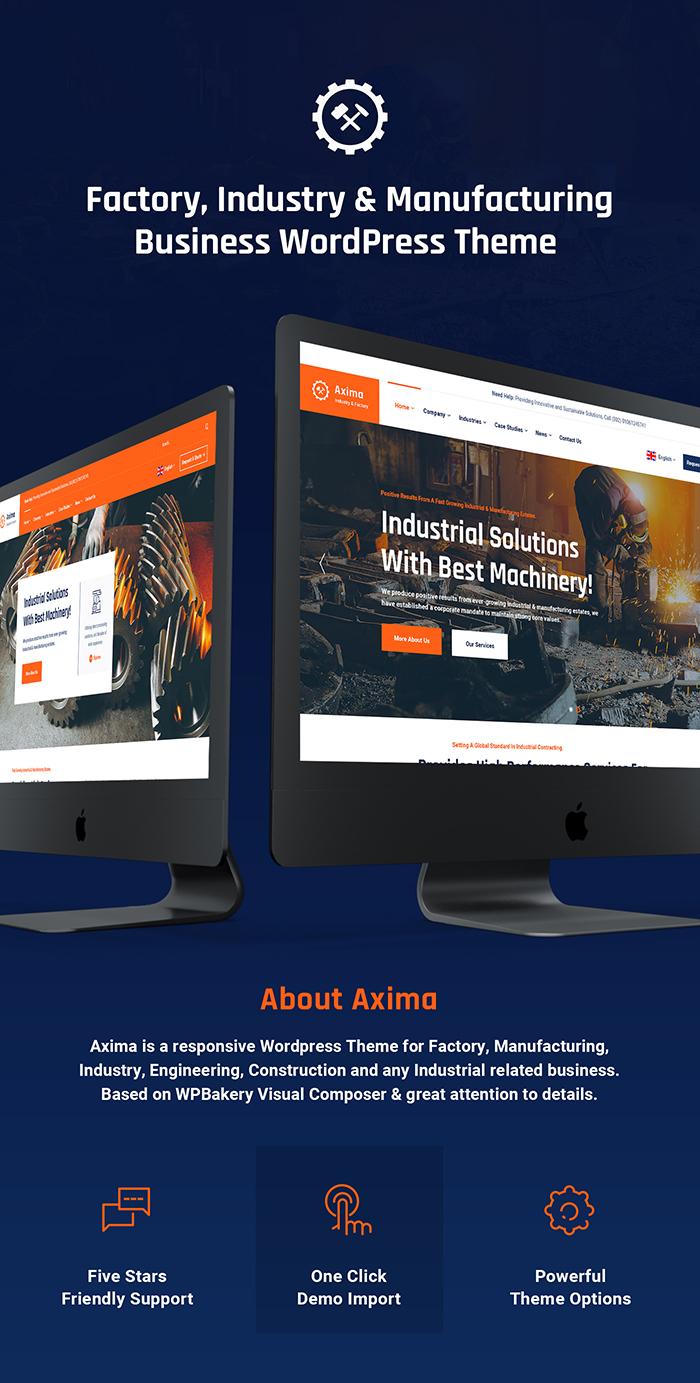Axima - Fabrik und Industrie WordPress Theme - 4