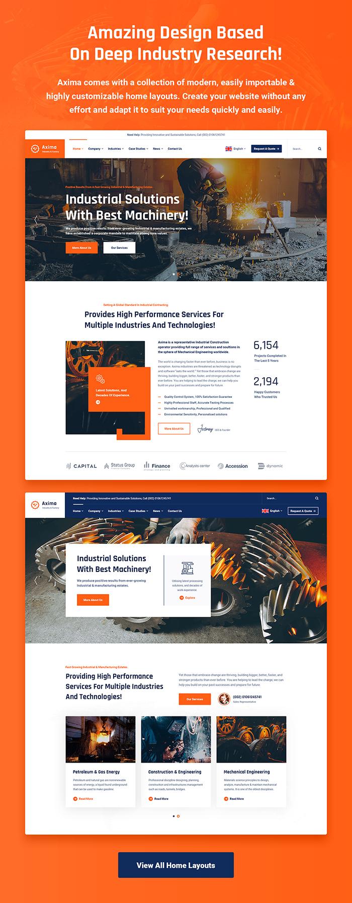 Axima - Fabrik und Industrie WordPress Theme - 5