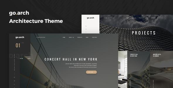 Wordpress Corporate Template go.arch - Architecture and  Interior WordPress Theme
