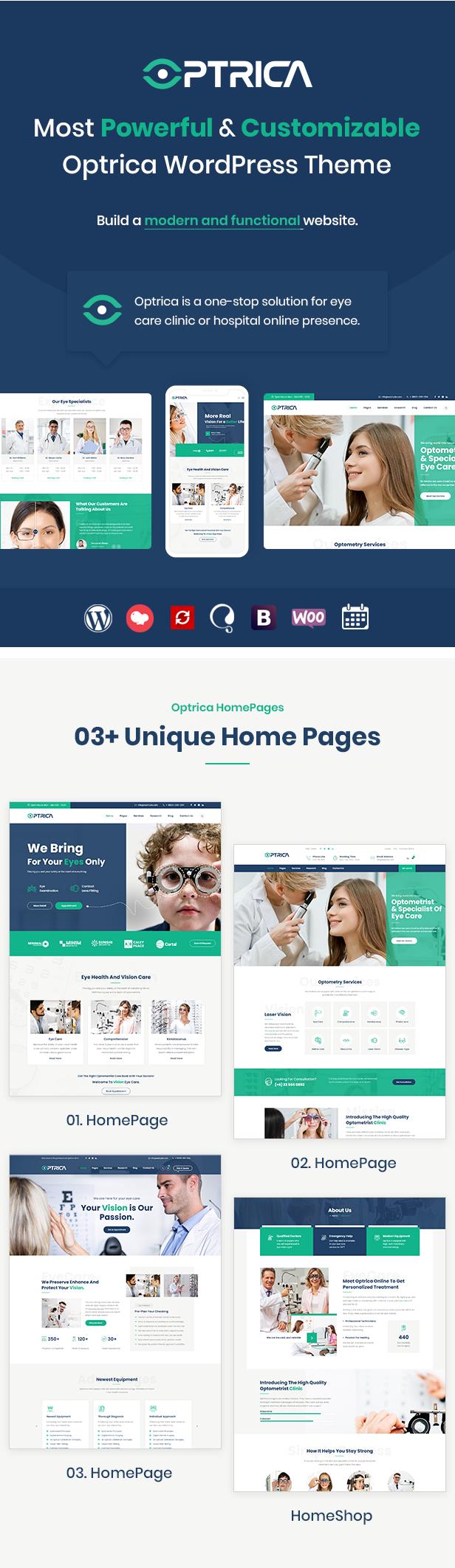 Optrica WordPress Theme