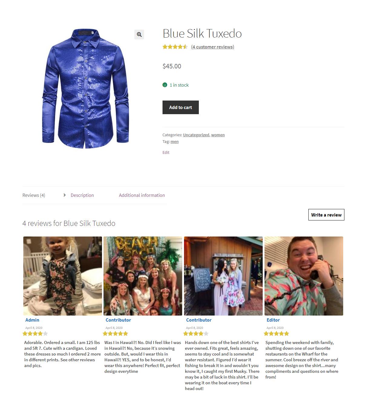 WooCommerce Photo Rating & Reviews - Überprüfungserinnerungen - Überprüfung auf Rabatte Plugin - 1