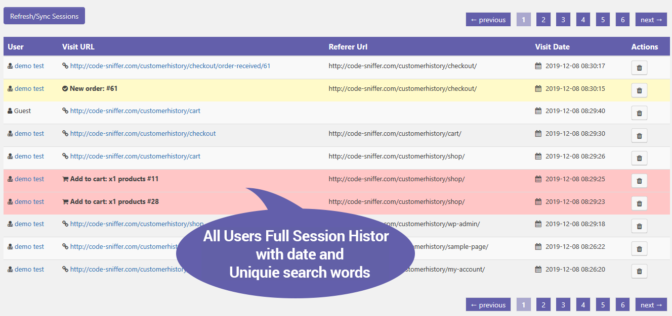 WooCommerce Customer History Plugin
