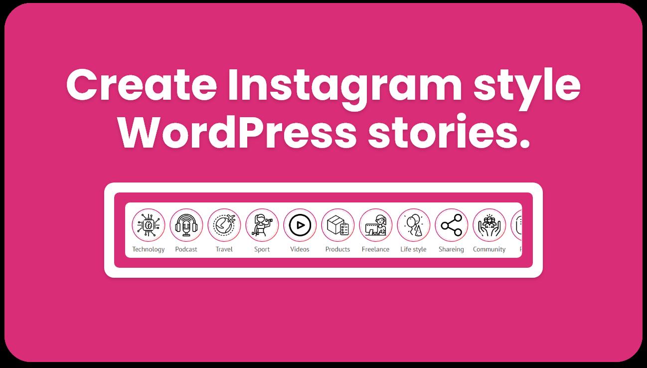 Plugin für Geschichten im WordPress-Instagram-Stil - 1