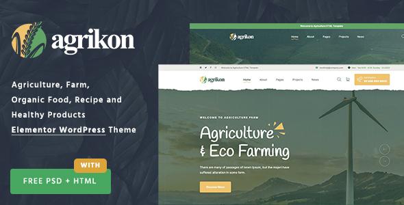 Wordpress Shop Template Agrikon - Organic Food & Agriculture WordPress Theme