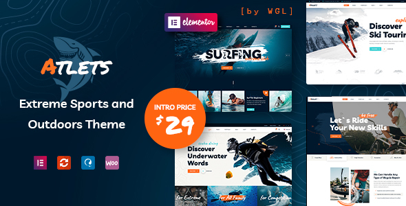 Wordpress Immobilien Template Atlets - Extreme and Outdoors WordPress Theme