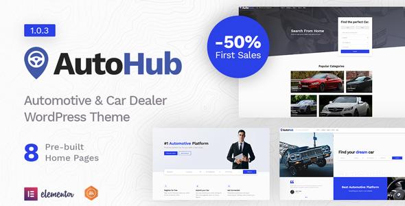 Wordpress Directory Template Autohub - Automotive & Car Dealer Theme