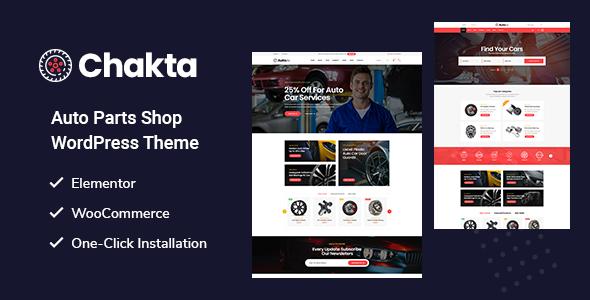 Wordpress Shop Template Chakta - Auto Parts Shop WooCommerce Theme