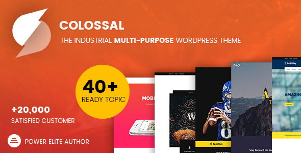 Wordpress Immobilien Template Colossal - Industrial multi-purpose WordPress Theme