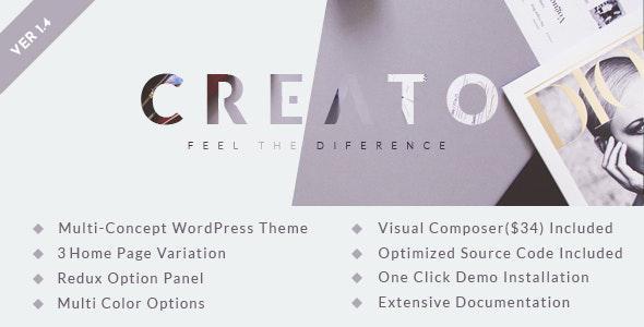 Wordpress Kreativ Template Creato - Parallax WordPress Theme