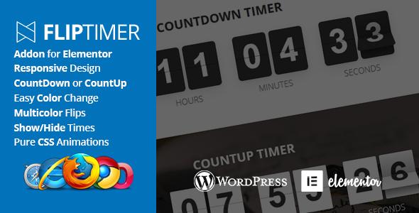 Wordpress Add-On Plugin FlipTimer - Addon for Elementor