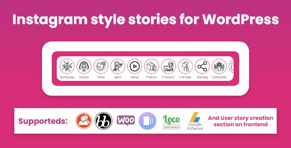 Wordpress Add-On Plugin Instagram style stories for WordPress - BP Story