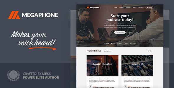Wordpress Blog Template Megaphone - Audio Podcast WordPress Theme