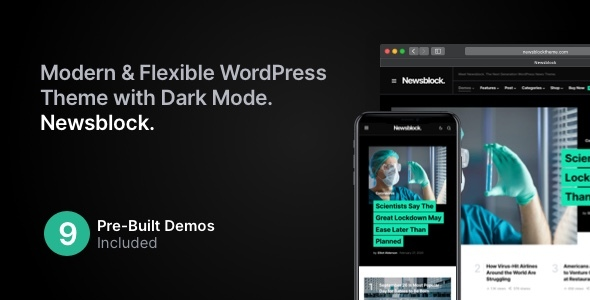 Wordpress Blog Template Newsblock - News & Magazine WordPress Theme with Dark Mode