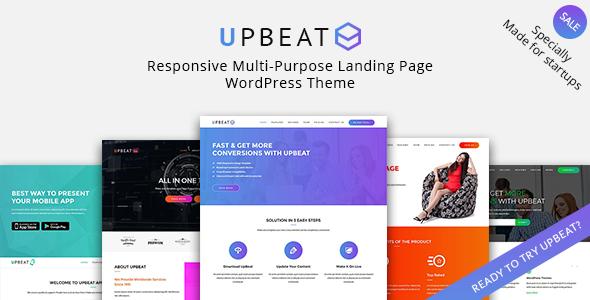 Wordpress Immobilien Template Upbeat - Multi-Purpose Landing Page WordPress Theme