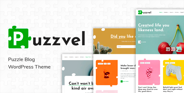Wordpress Blog Template Puzzvel – Puzzle Blog WordPress Theme