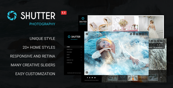 Wordpress Kreativ Template Shutter - Portfolio and Photography Powerful WordPress Theme