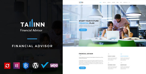 Wordpress Immobilien Template Tallinn - Business and  Consultancy WordPress Theme