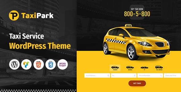 Wordpress Immobilien Template TaxiPark - Taxi Cab Service Company WordPress Theme