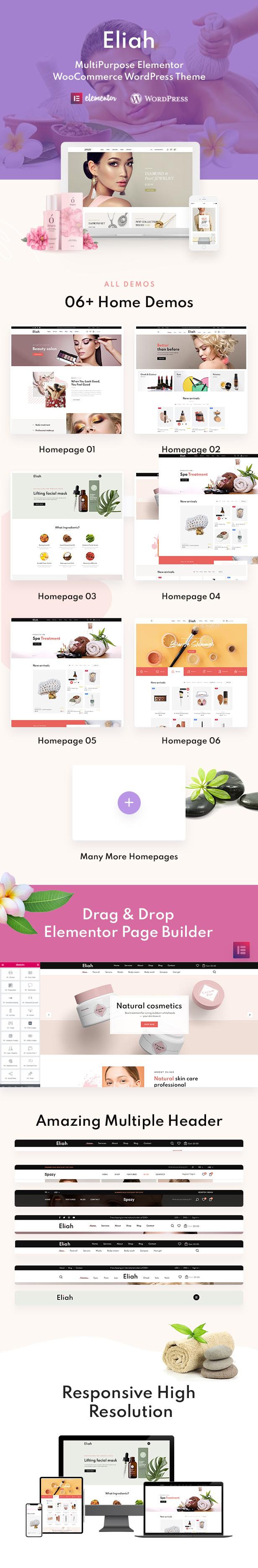 Eliah - WooCommerce WordPress Theme - 1