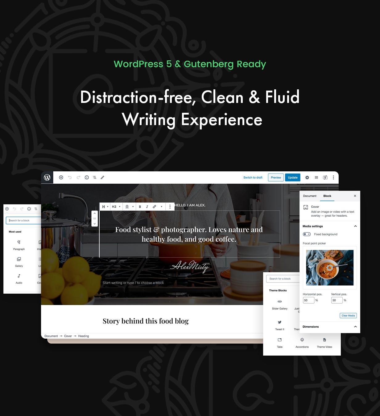 TinySalt - WordPress 5 & Gutenberg bereit.
