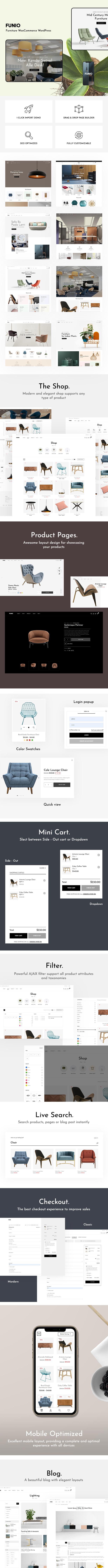 Funio - Möbel WooCommerce WordPress Theme - 1