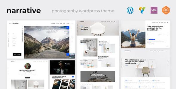 Wordpress Kreativ Template Narrative - Photography WordPress