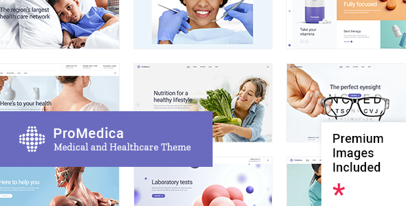 Wordpress Immobilien Template ProMedica - Medical and Healthcare Theme