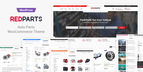 Wordpress Shop Template RedParts - Auto Parts WordPress Theme